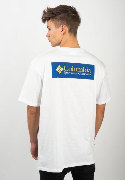 Columbia T-Shirts North Cascades Backprint white-azul vorderansicht 0320625