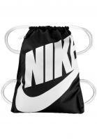Nike SB Taschen Heritage Gym Sack black-white-white Vorderansicht