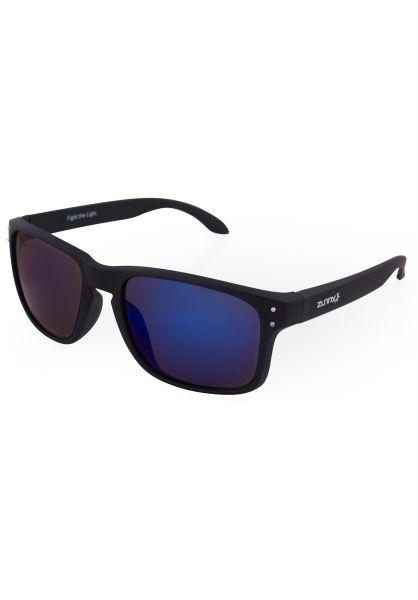 Zunny Sonnenbrillen Std. Sporty black-black-sky vorderansicht 0590429