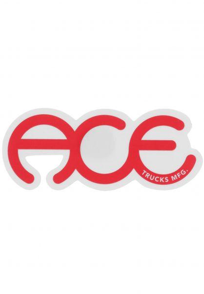 """Ace Verschiedenes Rings Logo Sticker 3"""" red vorderansicht 0972247"""