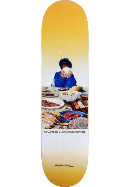 April Skateboards Skateboard Decks Horigome Banquet yellow vorderansicht 0266690