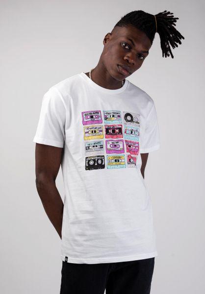 Dedicated T-Shirts Stockholm Color Cassettes white vorderansicht 0320245