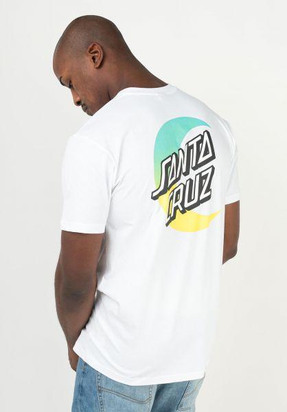Santa-Cruz T-Shirts Moon Dot Fade Organic white vorderansicht 0322500