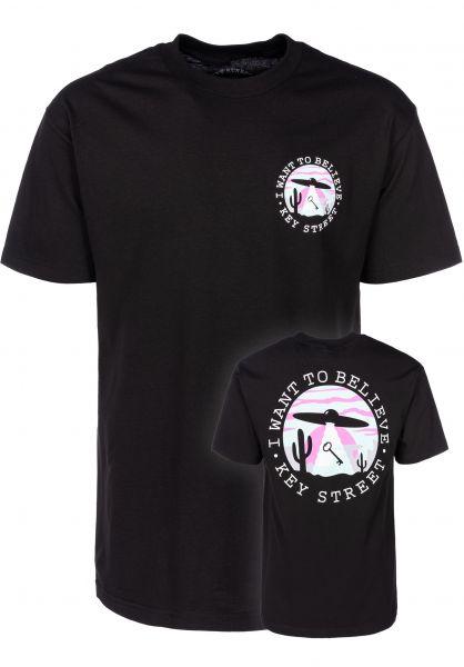 Key Street T-Shirts Believe black vorderansicht 0399523