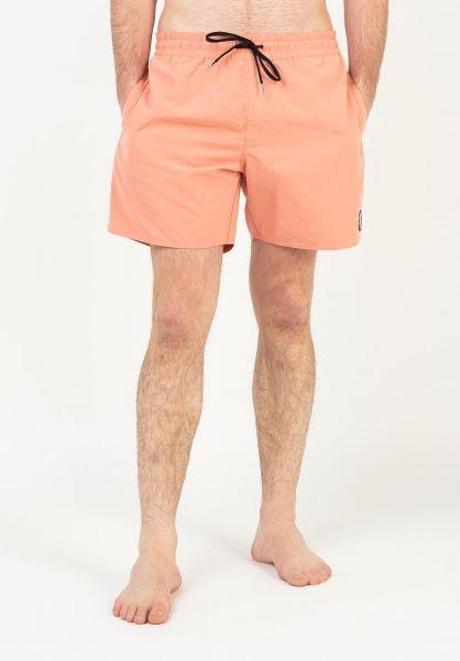 Volcom Beachwear Lido Solid Trunk 16´´ clayorange vorderansicht 0205379