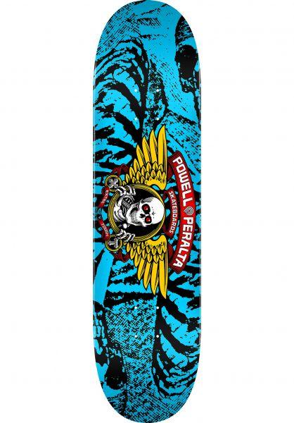 Powell-Peralta Skateboard Decks Winged Ripper Birch blue vorderansicht 0260294