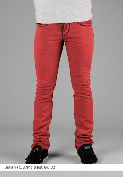 Reell Jeans Rocket colored-red Vorderansicht