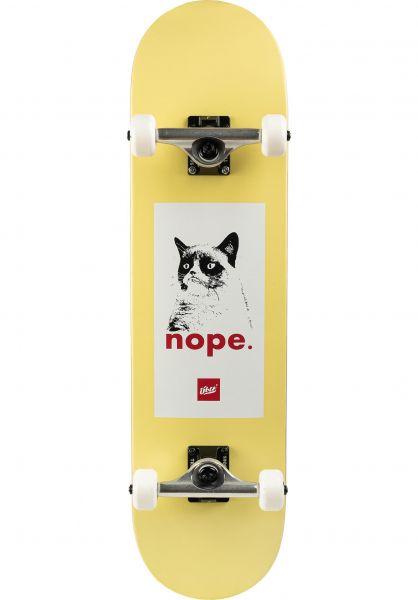 ÜBER Skateboard komplett Grumpy white vorderansicht 0162290