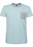 iriedaily T-Shirts Grand Pocket mintgrey Vorderansicht