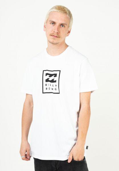 Billabong T-Shirts Unity Stacked white vorderansicht 0323773