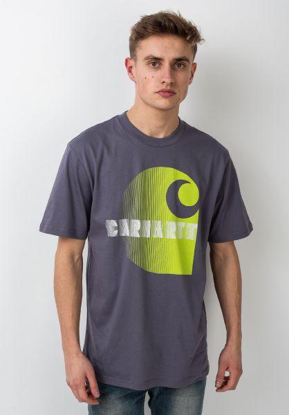 Carhartt WIP T-Shirts Illusion decentpurple vorderansicht 0321200