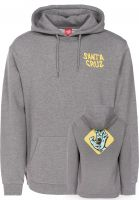 Santa-Cruz Hoodies Extinct Hand darkheather Vorderansicht