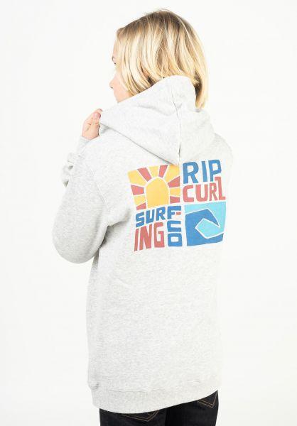 Rip Curl Hoodies Oceanz lightgreymarle vorderansicht 0446443