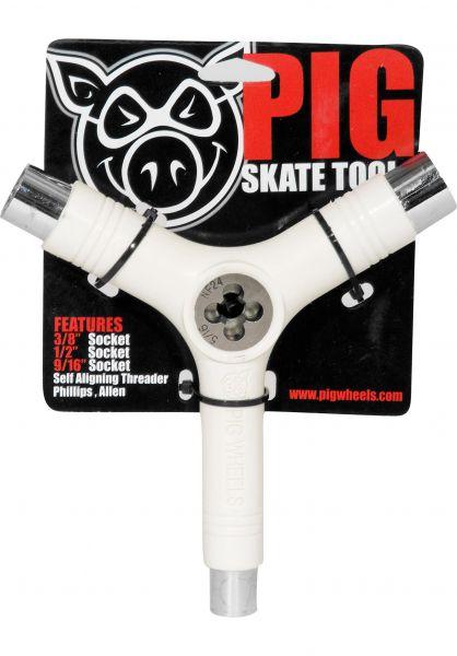 Pig Skate-Tools Tool inkl. Gewindeschneider white vorderansicht 0150222