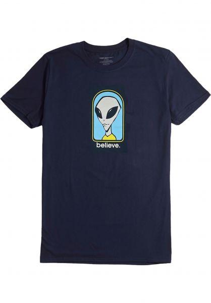 Alien-Workshop T-Shirts Believe navy vorderansicht 0321000