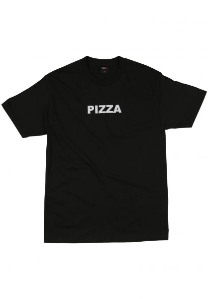 Pizza Skateboards T-Shirts Half Tone black vorderansicht 0321807