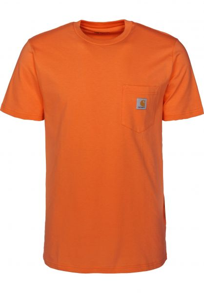 Carhartt WIP T-Shirts Pocket pepper vorderansicht 0393365