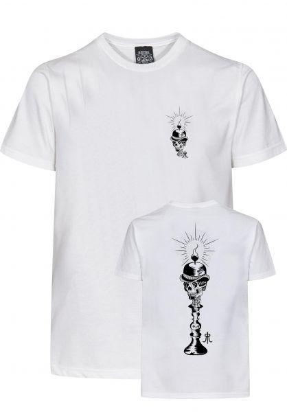 Rebel Rockers T-Shirts Candleman white Vorderansicht