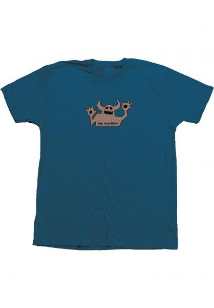 Toy-Machine T-Shirts OG Monster 90´s deepocean-grey vorderansicht 0320031