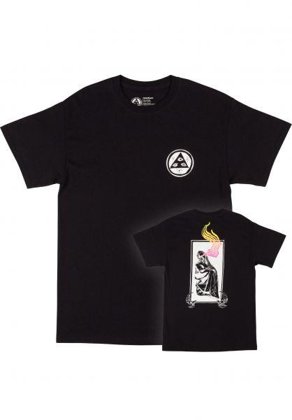 Welcome T-Shirts Statue black vorderansicht 0323402