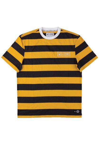 Welcome T-Shirts Big Beautiful Stripe black-gold-white vorderansicht 0398809