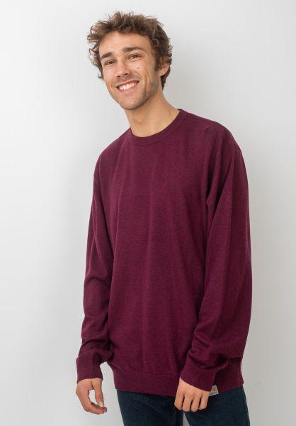 Carhartt WIP Strickpullover Playoff Sweater merlotheather vorderansicht 0422339