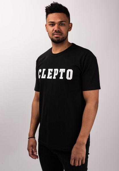Cleptomanicx T-Shirts College phantomblack vorderansicht 0399739