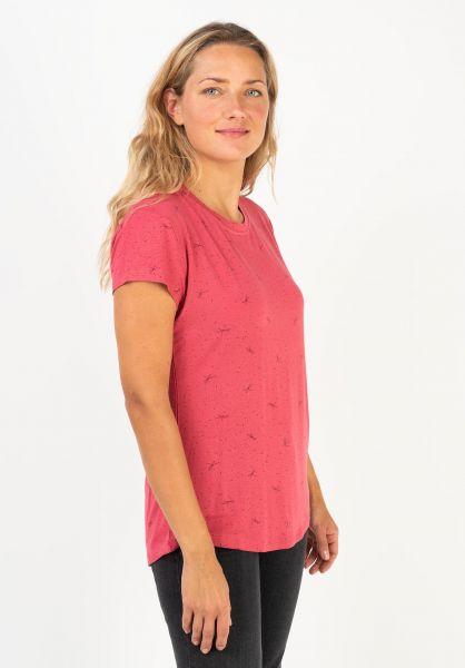 alife and kickin T-Shirts Mimmy cranberry 320 vorderansicht 0320759