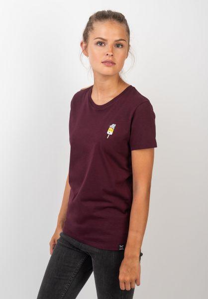 iriedaily T-Shirts Ice Beanie redwine vorderansicht 0320023