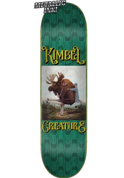 Creature Skateboard Decks Kimbel Other World teal vorderansicht 0262910
