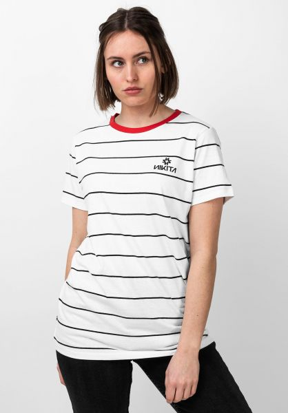 Nikita T-Shirts Transient white-blackstripe vorderansicht 0321140