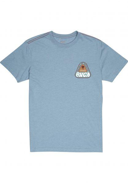 RVCA T-Shirts Castaway dustyblue vorderansicht 0399898