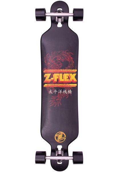 """Z-Flex Longboards komplett Dragon DT 41"""" black vorderansicht 0194417"""