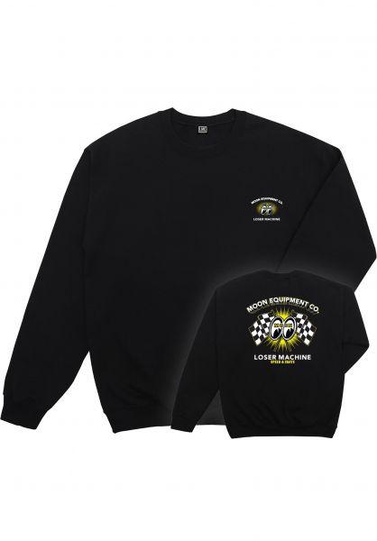 Loser-Machine Sweatshirts und Pullover x Mooneyes Fastet Lap black vorderansicht 0383692