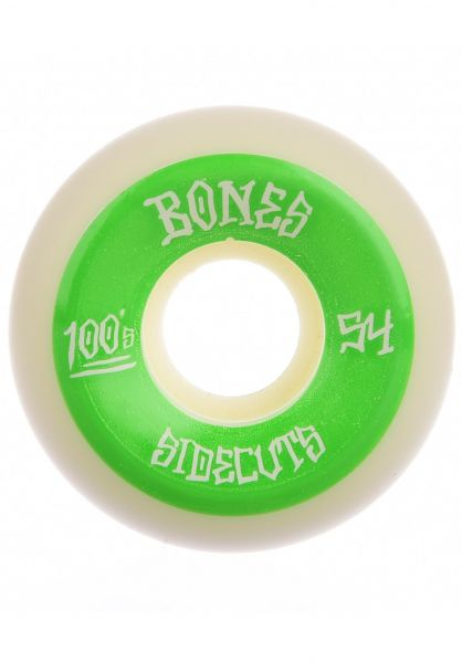 Bones Wheels Rollen 100´s OG #2 V5 100A white white-green vorderansicht 0134626