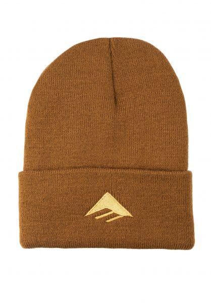 Emerica Mützen Triangle brown vorderansicht 0057017