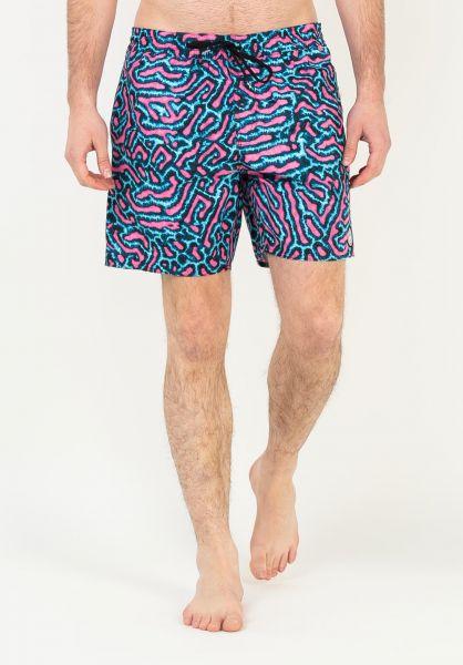 """Volcom Beachwear Coral Morph Trunk 17"""" pink vorderansicht 0205500"""