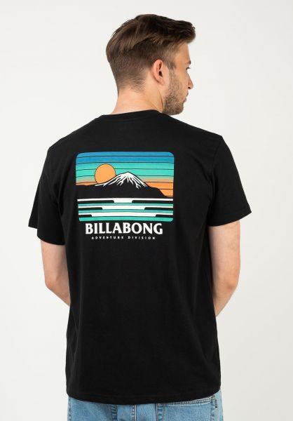 Billabong T-Shirts Adiv Lines black vorderansicht 0323807