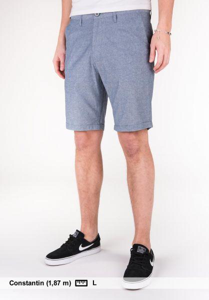 iriedaily Shorts Golfer Chambray jeansblue Vorderansicht
