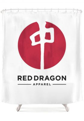 Red-Dragon Point Shower Curtain