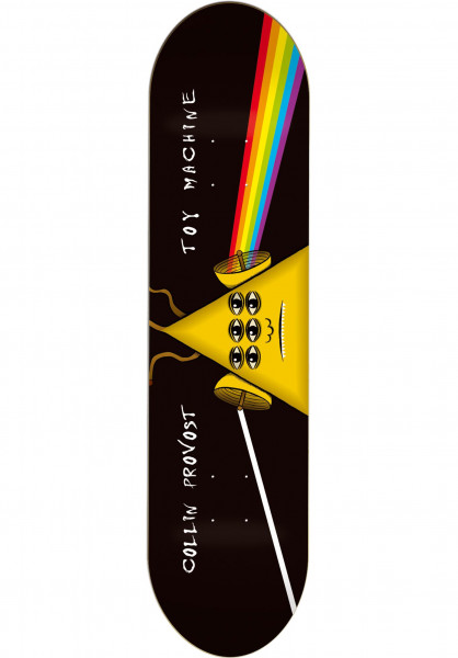 Toy-Machine Skateboard Decks Provost Darkside black Vorderansicht