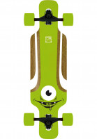 Solid Longboards komplett Eye Kids green Vorderansicht