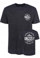 Grizzly T-Shirts All Terrain black-triblend Vorderansicht