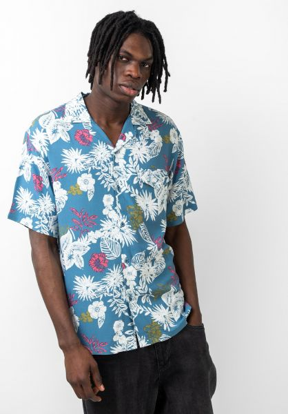 TITUS Hemden langarm Kingston honolulu-blue vorderansicht 0411919