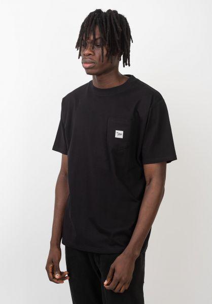 TITUS T-Shirts Script Pocket black vorderansicht 0399514