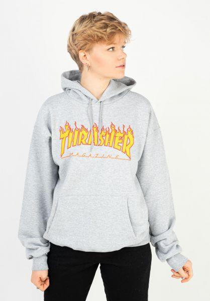 Thrasher Hoodies Flame UNISEX greymottled vorderansicht 0446065