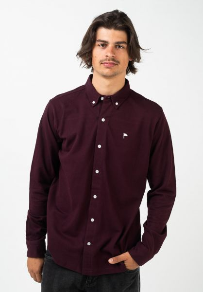 Wemoto Hemden langarm Tumba burgundy vorderansicht 0412073
