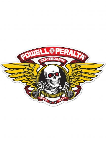 "Powell-Peralta Verschiedenes Winged Ripper 5"" Die-Cut Sticker red Vorderansicht"
