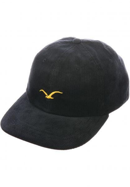 Cleptomanicx Caps Cord Möwe black vorderansicht 0566772