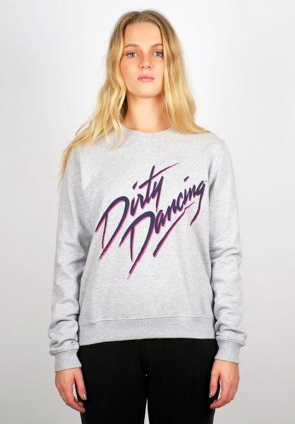 Dedicated Sweatshirts und Pullover Ystad Dirty Dancing Logo greymelange vorderansicht 0422557